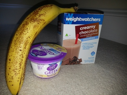 Chocolate Smoothie Ingredients